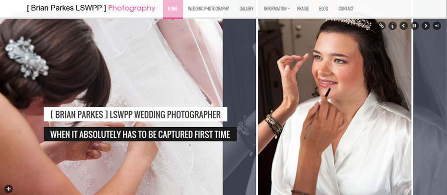 Wedding Photography Website Redesign